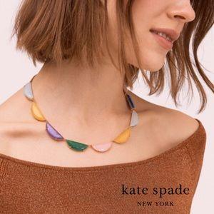Kate Spade Half Moon Scallop Collar Necklace